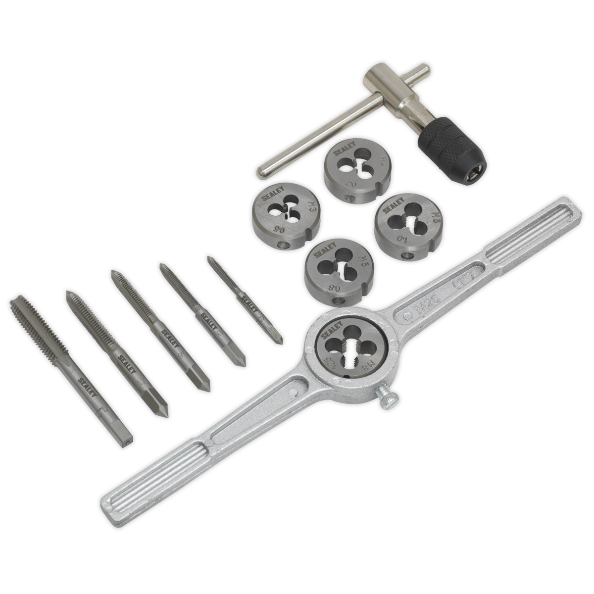 Sealey Tap /& Die Set 32pc Split Dies Metric AK3015