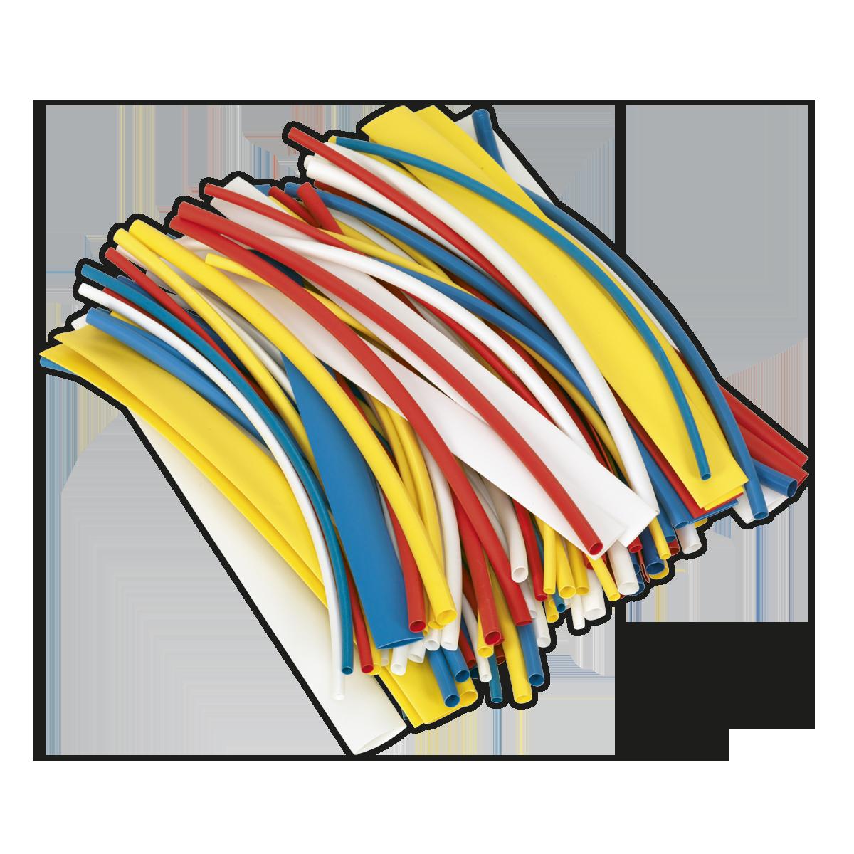 Sealey HST200MC Heat Shrink Tubing Colores Mezclados 200mm 100 piezas