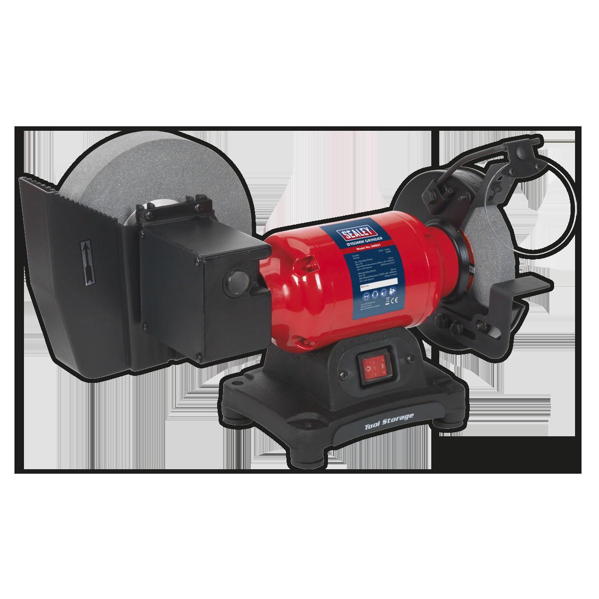 Bench Grinder Wet Dry O200 150mm 250w 230v Sealey Sm521 By Sealey 5057719082839 Ebay