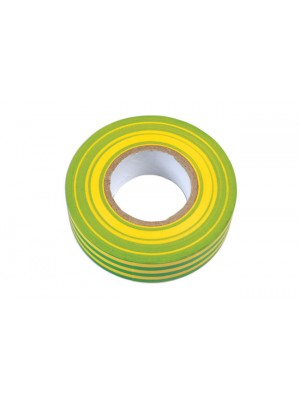 Green & Yellow PVC Insulation Tape 19mm x 20m - Pack 10