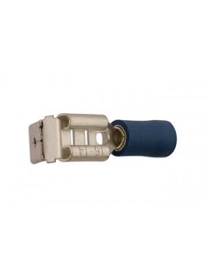 Blue Piggyback Terminal  6.3mm - Pack 100