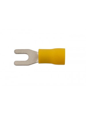 Yellow Fork Terminal 4.0mm - Pack 100