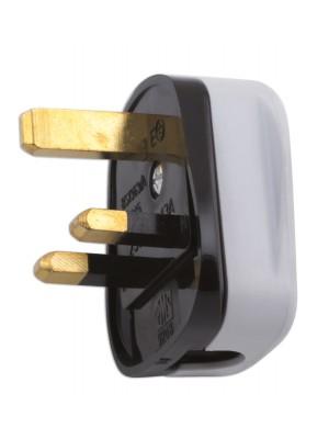 High Impact White Plug Tops 13-amp - Pack 10