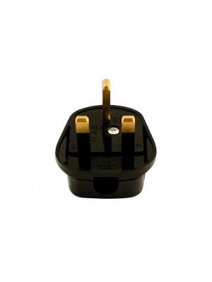 High Impact Black Plug Tops 13-amp - Pack 10