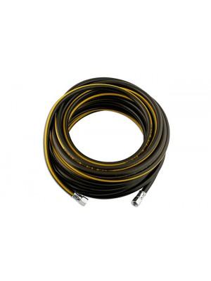 Rubber Air Hose 6.3(1/4) 1/4BSP Nipples 15m