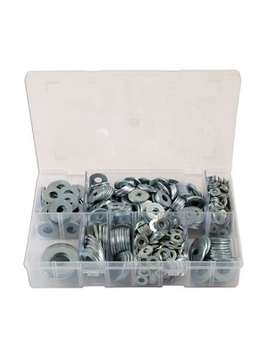 Assorted Form C Flat Washers Box - 800 Pieces