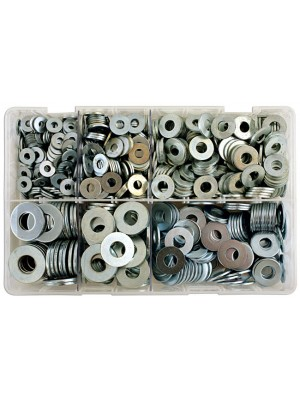 Assorted Table 4 Flat Washers Box - 800 Pieces