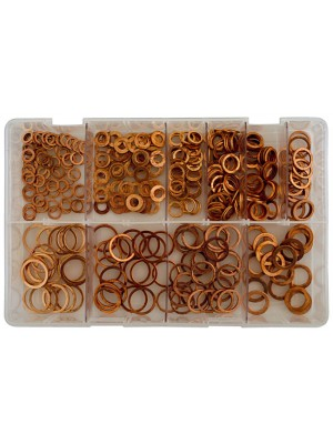 Assorted Metric Diesel Injection Washers Box - 360 Pieces