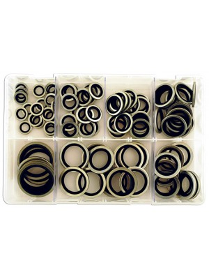 Assorted Bonded Seal Washers Imp (Dowty) Box - 100 Pieces