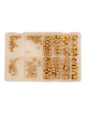 Assorted MM Brass Barrel & Stepped Olives Box - 200 Pieces
