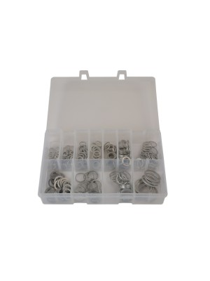 Assorted AluSuits Minium Washers Box - 260 Pieces