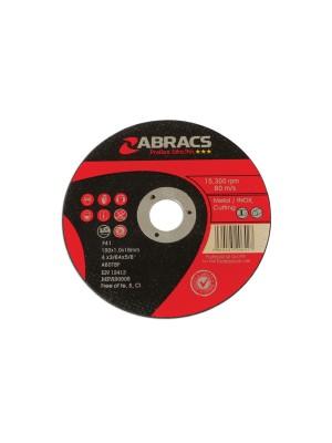 Abracs 100mm x 1.0mm Thin Cutting Discs - Pack 10