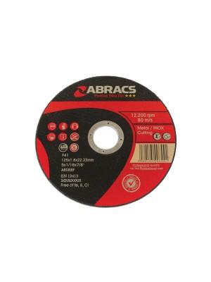 Abracs 125mm x 1.6mm Thin Cutting Discs - Pack 10