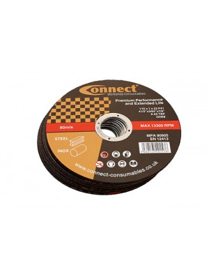 Connect 115mm x 1.0mm Thin Discs - Pack 10