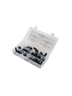 Assorted Fuel Line Angled Quick Connectors - 15 Pieces