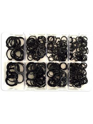 Assorted External Metric Circlips Box - 250 Pieces