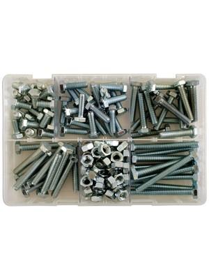 Assorted M8 Setscrews & Nuts Box - 154 Pieces