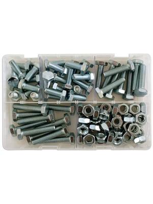 Assorted M10 Setscrews & Nuts Box - 88 Pieces