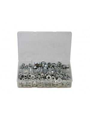 Assorted Metric Flange Nuts Box - 225 Pieces