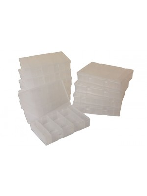 Empty Assorted Boxes with 8 Dividers - Pack 10