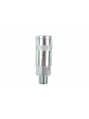 """Cyclone Double Action Male Air Line Coupling 1/4"""" - Pack 2"""