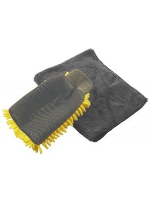 Microfibre Wash Mitt - 2 Pieces