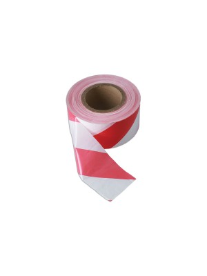 Red & White Barrier Tape 75mm x 500m Non Adhesive Pack 1