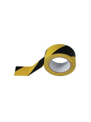 Black & Yellow Barrier Tape 50mm x 33m Adhesive Pack 1