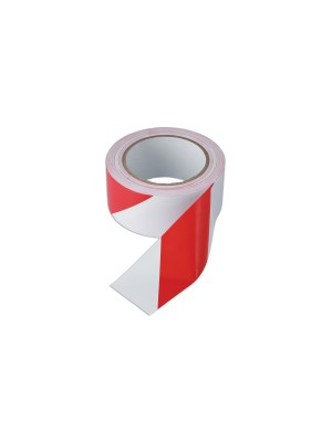 Red & White Barrier Tape 50mm x 33m Adhesive Pack 1