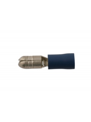 Blue Male Bullet Terminal 5mm - Pack 10