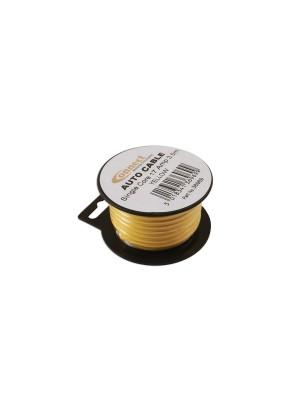 Suits Mini Reel Automotive Cable 17 Amp Yellow 3.5m