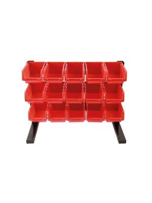 15 Storage Bin Work Top Stand