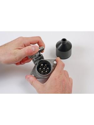 7 Pin 24 Volt Metal Socket - Pack 1