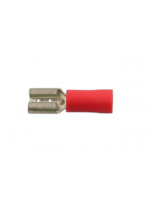 Red Female Push-On 6.3mm - Pack 100