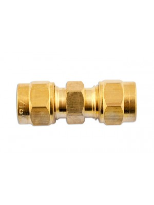 Brass Straight Coupling 1/4in - Pack 10