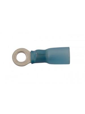 Blue Heat Shrink Ring Terminal 5.0mm - Pack 25