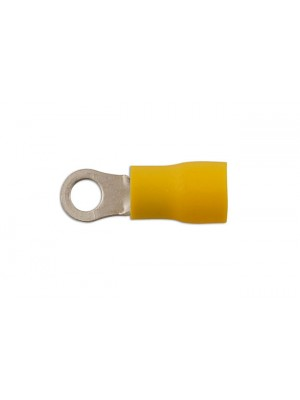 Yellow Ring Terminal 6.4mm - Pack 100