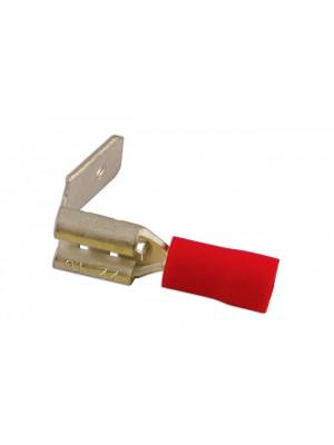 Red Piggyback Terminal 6.3mm - Pack 100