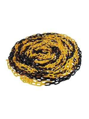 Plastic 6mm Chain 25m (Black/Yellow)