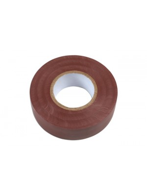 Brown PVC Insulation Tape 19mm x 20m - Pack 10