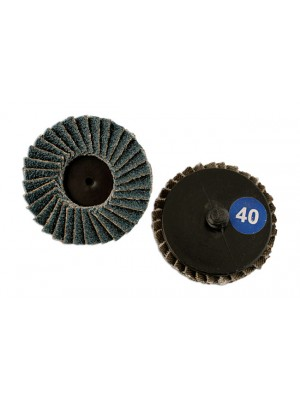 Abracs Quick Lock Flap Discs 50mm x P80 - Pack 5
