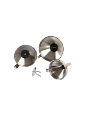 Stainless Steel Funnel Set 3pc