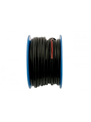 Black/Red Flat Twin Auto Cable 28/0.30  30m