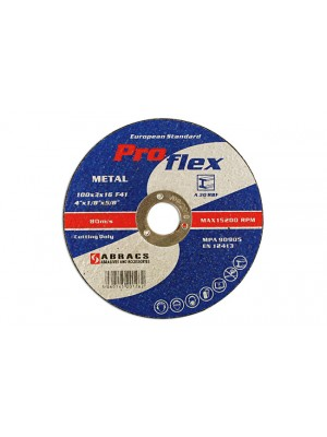 Abracs 115mm x 3.0mm Flat Cutting Discs - Pack 25