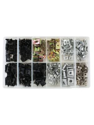 Asstd Metal Trim Nuts & U Nuts - 245 Pieces