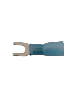 Blue Heat Shrink Fork Terminal 5.0mm - Pack 25