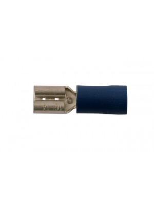 Blue Female Fully Ins. Push-On 4.8mm - Pack 100