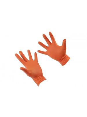 Grippaz XLarge Orange Nitrile Gloves Box -50 Pieces/25 Pairs