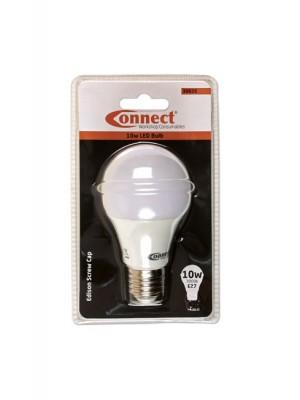 10W LED Bulb 3000K E27 ES Fitting Warm White - Pack 1