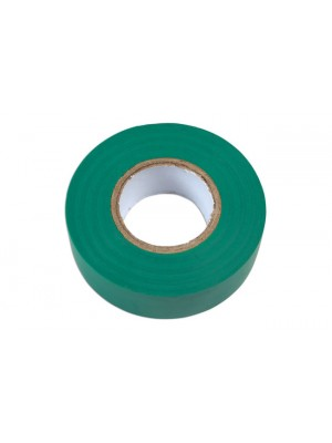 Green PVC Insulation Tape 19mm x 20m - Pack 10